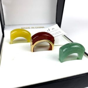 Jade Rings Set 3